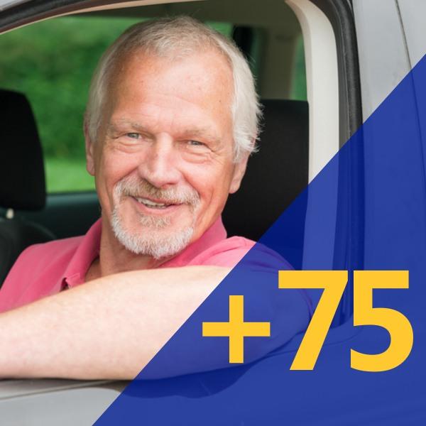 Aluguer de veículos para maiores de 75 anos