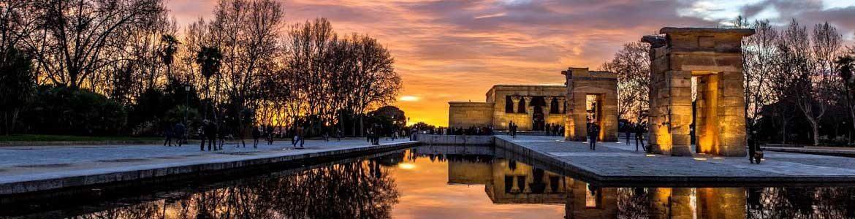 Templo Egipcio Debod, Paseos por Madrid, Alquiler de coches