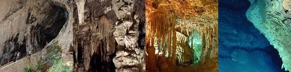 Cuevas de Artá, Cuevas del Hams, Cuevas de Génova, Cuevas del Campanet