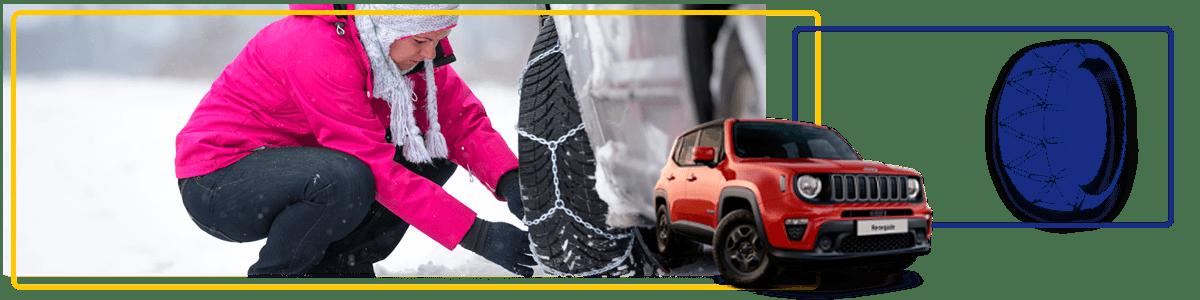 alquiler de coches con cadenas para la nieve