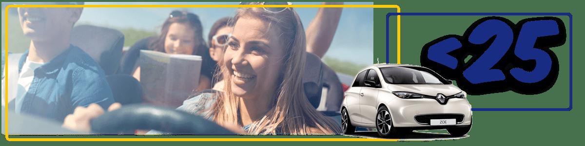 alquiler de coches para jóvenes entre 21 y 24 años
