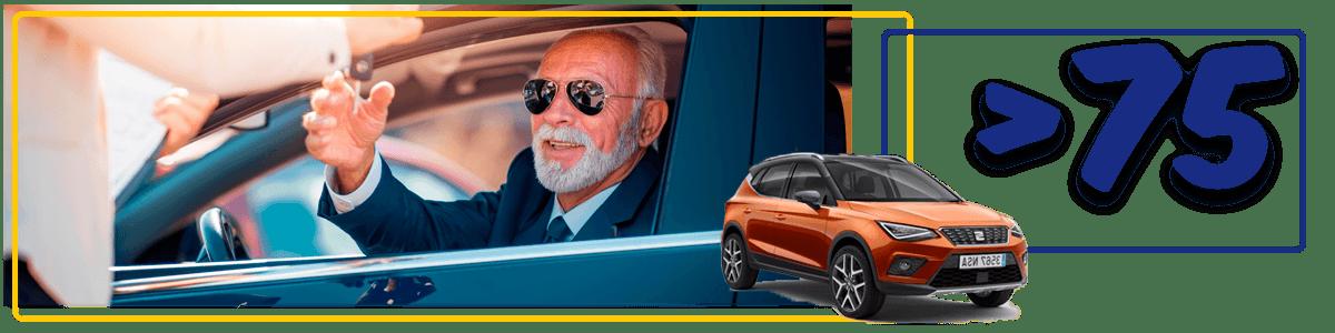 alquiler de coches para mayores de 75 años