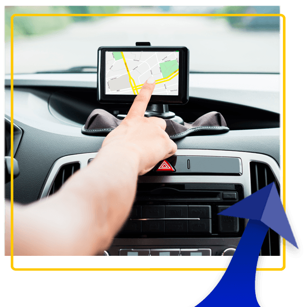 Car hire with GPS navigation system