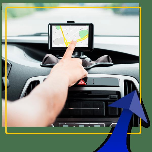 Aluguer de carros com navegador GPS