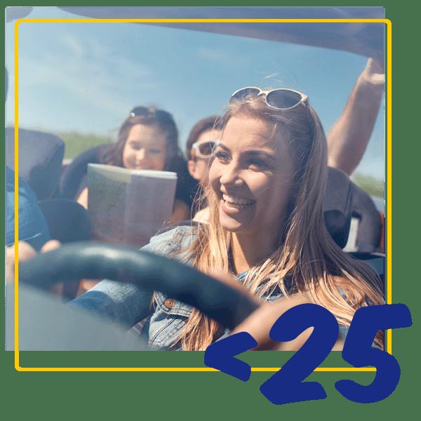 Aluguer de carros para jovens com idades entre os 19e os 24 anos
