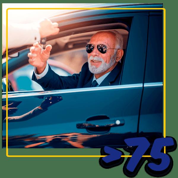 Aluguer de carros para maiores de 75 anos