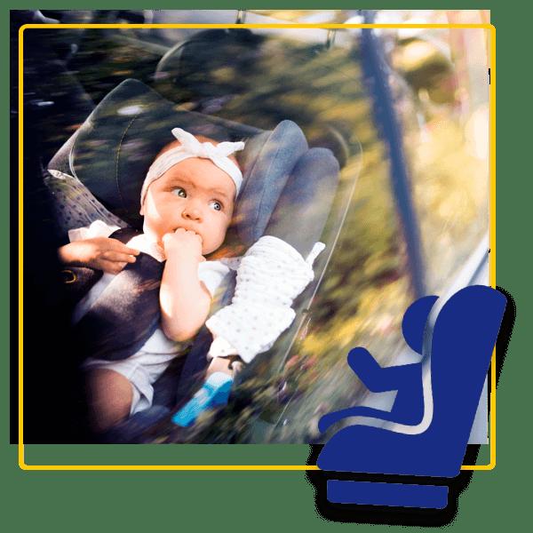 Aluguer de carros com cadeiras auto para bebés e crianças