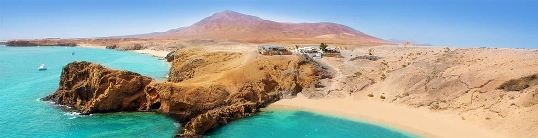 Beste stranden Lanzarote Zuid Huurauto's Centauro Rent a Car