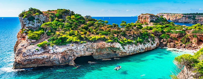 Cove and Pools of Mallorca