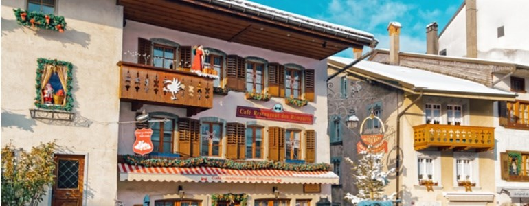 Christmas itinerary alps Centauro Rent a Car