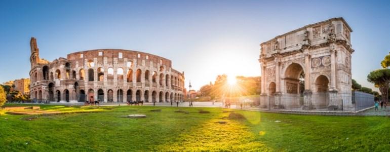 Trajeto de carro de Roma a Calábria
