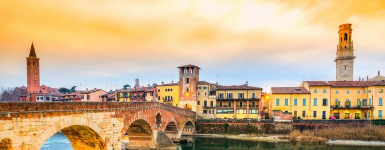 Percurso de carro por Verona